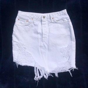 GRLFRND White Denim Skirt